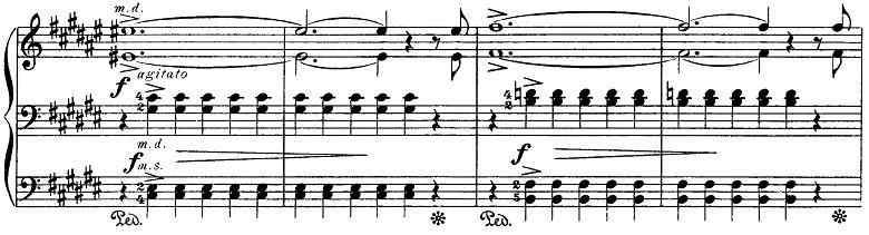 グリーグ抒情小曲集第3集第6曲「春に寄す」嬰へ長調Op.43-6 ピアノ楽譜2