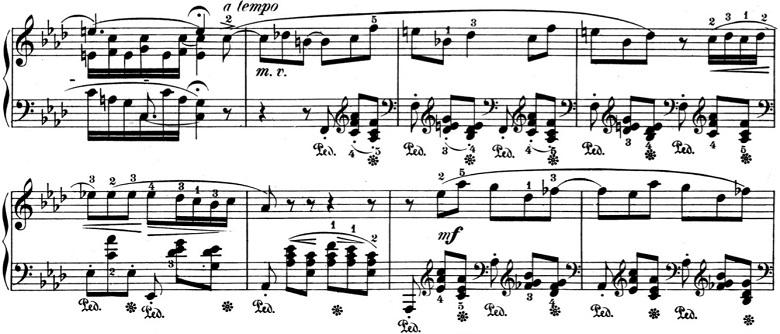 ショパン「バラード第4番ヘ短調Op.52」ピアノ楽譜2