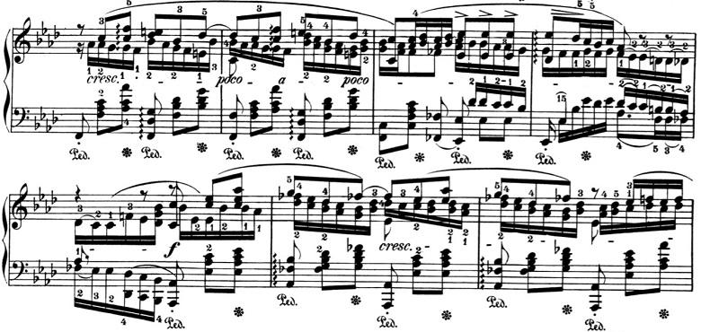 ショパン「バラード第4番ヘ短調Op.52」ピアノ楽譜4