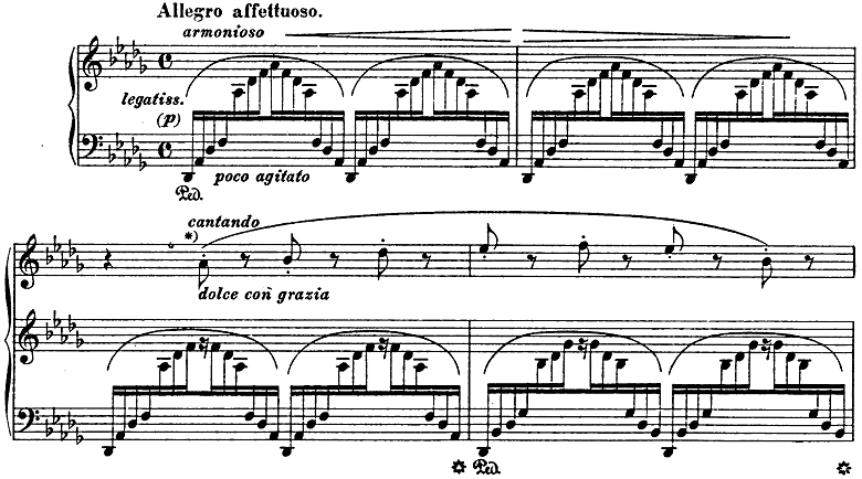 リスト「3つの演奏会用練習曲第3曲「ため息」変ニ長調S.144-3」ピアノ楽譜1