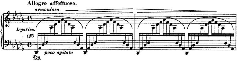 リスト「3つの演奏会用練習曲第3曲「ため息」変ニ長調S.144-3」ピアノ楽譜2