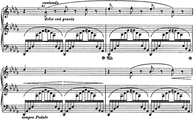 リスト「3つの演奏会用練習曲第3曲「ため息」変ニ長調S.144-3」ピアノ楽譜3