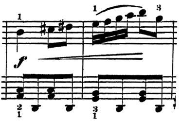 ローデ「フリーゲンデ・ブレッター第5番「マリオネット」ト長調Op.36-5」ピアノ楽譜2