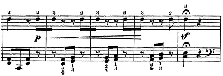 ローデ「フリーゲンデ・ブレッター第5番「マリオネット」ト長調Op.36-5」ピアノ楽譜3