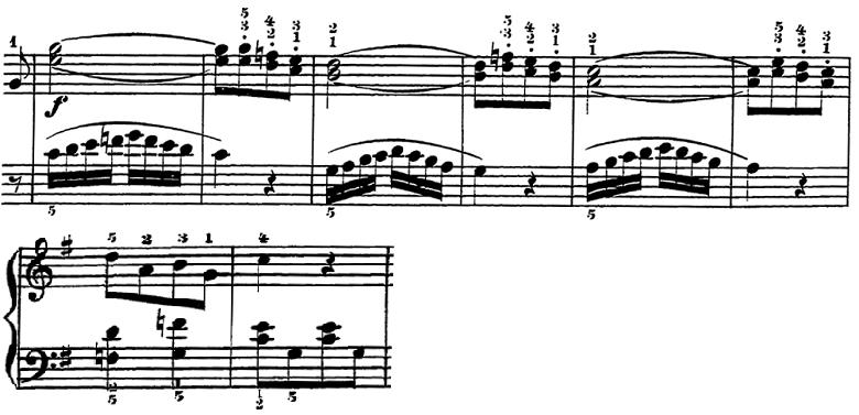 ローデ「フリーゲンデ・ブレッター第5番「マリオネット」ト長調Op.36-5」ピアノ楽譜4