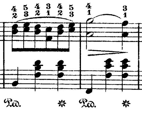 ショパン「ワルツ第10番ロ短調Op.69-2」右手が和音の部分のピアノ楽譜