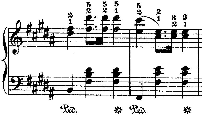 ショパン「ワルツ第10番ロ短調Op.69-2」リズミカルな部分のピアノ楽譜