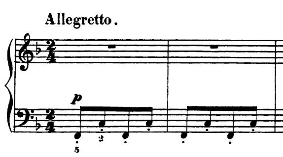 エルメンライヒ 音楽の風俗画 第5曲「紡ぎ歌」ヘ長調Op.14-5 ピアノ楽譜1