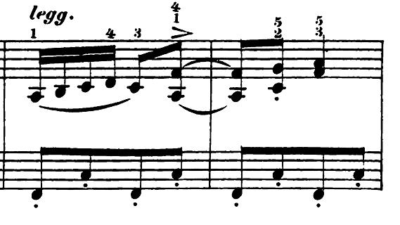 エルメンライヒ 音楽の風俗画 第5曲「紡ぎ歌」ヘ長調Op.14-5 ピアノ楽譜2