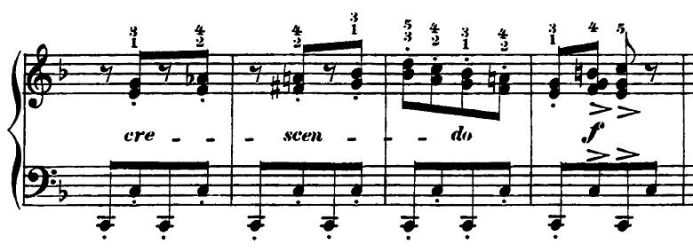 エルメンライヒ 音楽の風俗画 第5曲「紡ぎ歌」ヘ長調Op.14-5 ピアノ楽譜3