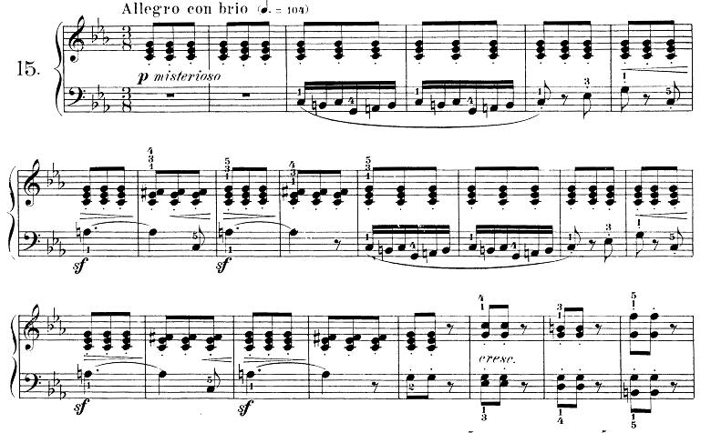 ブルグミュラー「25の練習曲第15番「バラード」ハ短調 3/8拍子」ピアノ楽譜