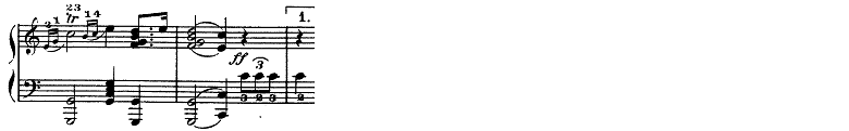 メンデルスゾーン「<真夏の夜の夢>劇付随音楽第9曲「結婚行進曲」ハ長調Op.61-9」ピアノ楽譜2