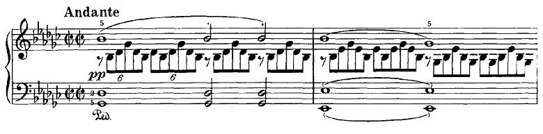 シューベルト「即興曲第3番op.90-3」ピアノ楽譜1