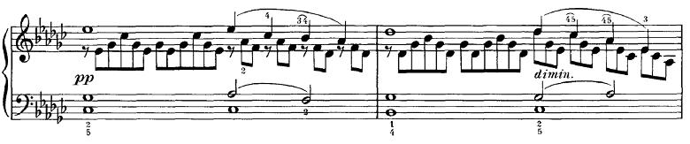 シューベルト「即興曲第3番op.90-3」ピアノ楽譜2