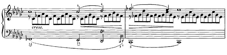 シューベルト「即興曲第3番op.90-3」ピアノ楽譜3