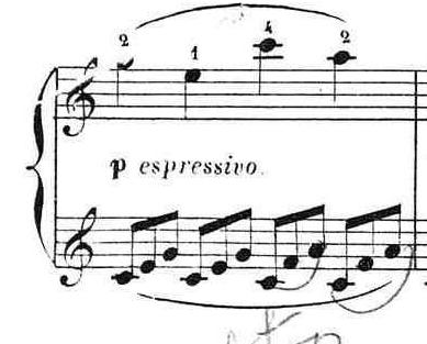 ブルグミュラー「25の練習曲第12番「さようなら」イ短調Op.100-12」ピアノ楽譜4