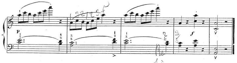 ブルグミュラー「25の練習曲第12番「さようなら」イ短調Op.100-12」ピアノ楽譜7