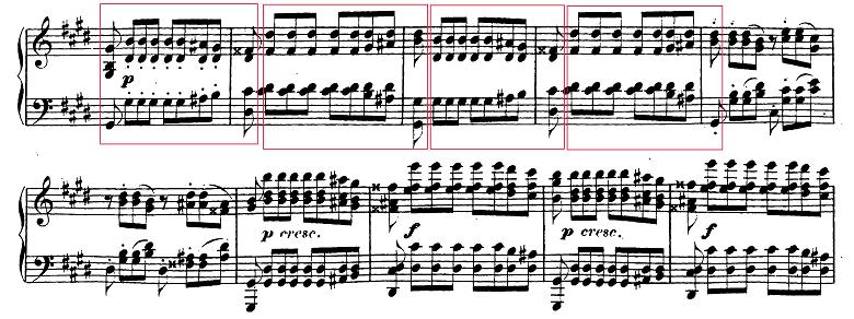 ベートーヴェン「ピアノソナタ第14番「月光ソナタ(幻想曲風ソナタ)」嬰ハ短調Op.27-2第3楽章」ピアノ楽譜1