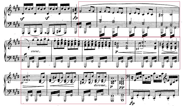 ベートーヴェン「ピアノソナタ第14番「月光ソナタ(幻想曲風ソナタ)」嬰ハ短調Op.27-2第3楽章」ピアノ楽譜2