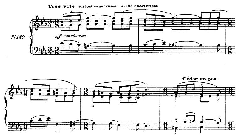 プーランク「即興曲第15番ハ短調「エディットピアフをたたえて」ハ短調FP176」ピアノ楽譜1