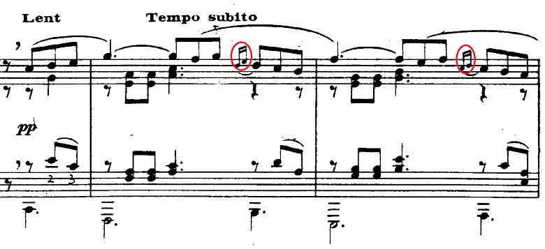 プーランク「即興曲第15番ハ短調「エディットピアフをたたえて」ハ短調FP176」ピアノ楽譜2
