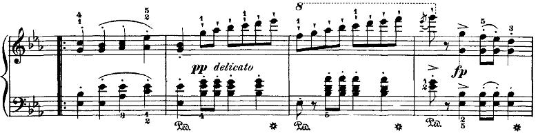 ブルグミュラー「18の練習曲第4番「ジプシー」ハ短調Op.109-4」ピアノ楽譜4
