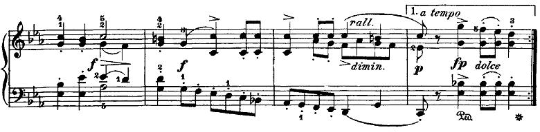 ブルグミュラー「18の練習曲第4番「ジプシー」ハ短調Op.109-4」ピアノ楽譜5