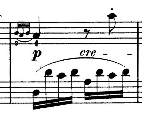 ダカン「クラヴサン曲集第1巻第3組曲第1曲『かっこう』ホ短調」ピアノ楽譜(かっこうの鳴き声3)