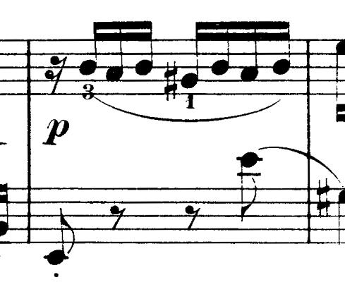 ダカン「クラヴサン曲集第1巻第3組曲第1曲『かっこう』ホ短調」ピアノ楽譜(かっこうの鳴き声4)