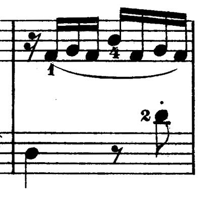 ダカン「クラヴサン曲集第1巻第3組曲第1曲『かっこう』ホ短調」ピアノ楽譜(かっこうの鳴き声5)