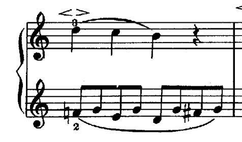 シューマン「子供のためのアルバム第1曲メロディー」ハ長調Op.68-1ピアノ楽譜1