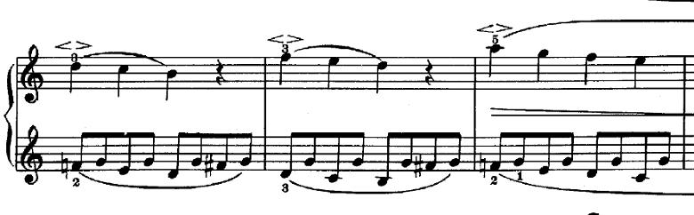 シューマン「子供のためのアルバム第1曲メロディー」ハ長調Op.68-1ピアノ楽譜3