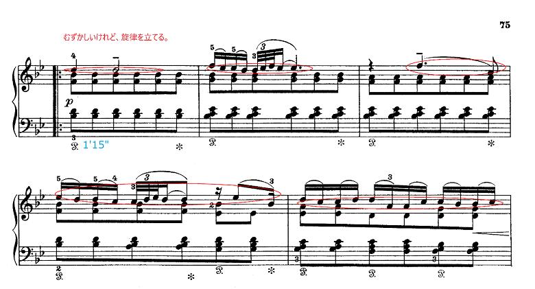 グリーグ組曲「ホルベアの時代から(ホルベルク組曲)」Op.40エアー(Air) ピアノ楽譜2