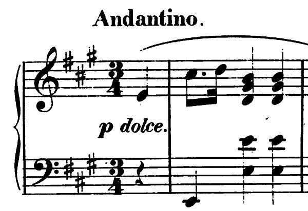 ショパン前奏曲第7番イ長調op.28-7(太田胃散CM)冒頭のピアノ楽譜