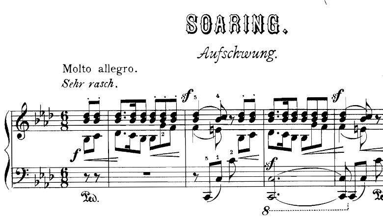 シューマン「飛翔」(幻想小曲集op.12-2)ピアノ楽譜1