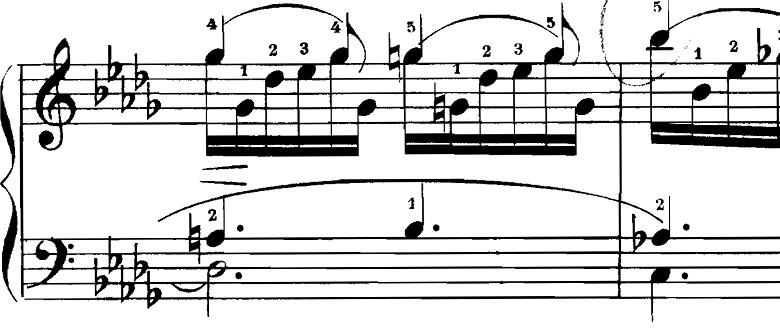 シューマン「飛翔」(幻想小曲集op.12-2)ピアノ楽譜3