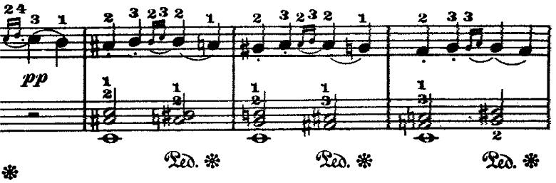 ラモー「クラヴサン曲集第8曲「タンブラン」ホ短調RCT2-8」ピアノ楽譜2