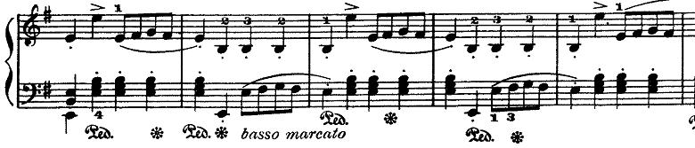ラモー「クラヴサン曲集第8曲「タンブラン」ホ短調RCT2-8」ピアノ楽譜3