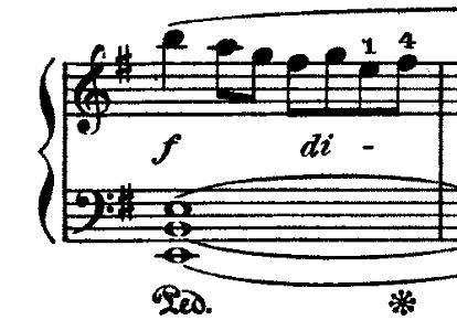 ラモー「クラヴサン曲集第8曲「タンブラン」ホ短調RCT2-8」ピアノ楽譜4