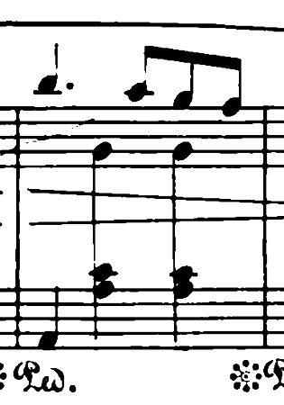 ショパン「ワルツ第6番『子犬のワルツ』変ニ長調Op.64-1」クレッシェンドの頂点のピアノ楽譜