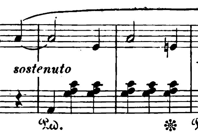 ショパン「ワルツ第6番『子犬のワルツ』変ニ長調Op.64-1」落ち着いた部分のピアノ楽譜