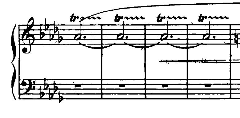 ショパン「ワルツ第6番『子犬のワルツ』変ニ長調Op.64-1」犬が我慢できずに回りだそうとする部分のピアノ楽譜