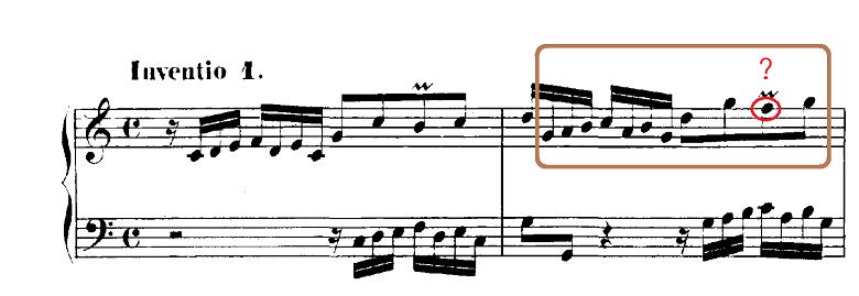 バッハ「インヴェンション第1番ハ長調BWV772」ピアノ楽譜5