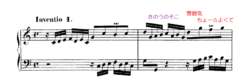 バッハ「インヴェンション第1番ハ長調BWV772」ピアノ楽譜6