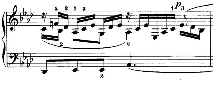 メンデルスゾーン「無言歌集第3巻第6曲「デュエット」変イ長調Op.38-6」ピアノ楽譜3