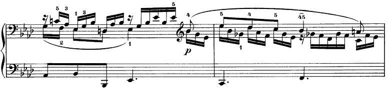 メンデルスゾーン「無言歌集第3巻第6曲「デュエット」変イ長調Op.38-6」ピアノ楽譜5