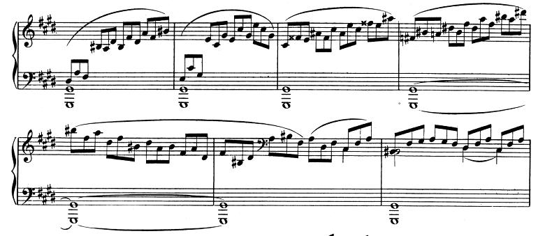 ベートーヴェン「ピアノソナタ第14番「月光ソナタ(幻想曲風ソナタ)」嬰ハ短調Op.27-2第1楽章」ピアノ楽譜4