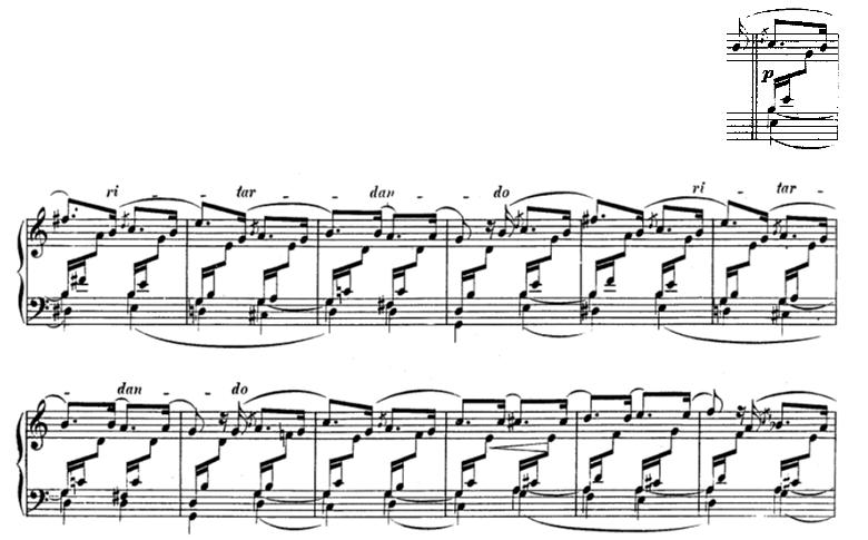 シューマン「アラベスクハ長調op.18」ピアノ楽譜2