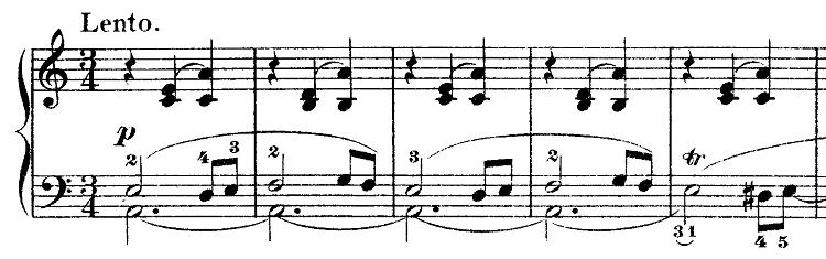 ショパン「ワルツ第3番『華麗なる円舞曲』イ短調Op.34-2」Lentoからのピアノ楽譜