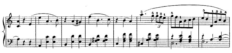 ショパン「ワルツ第3番『華麗なる円舞曲』イ短調Op.34-2」スラーが細かい部分のピアノ楽譜